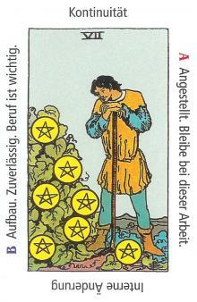 Sieben Münzen - Anraths Tarot