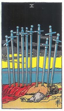 Zehn Schwerter - Rider Waite Tarot